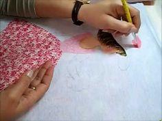 Pintura em tecido - Boneca com vestido de crochê - Adriana - How to paint fabric - YouTube