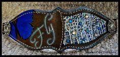 custom croc noseband/painted tack