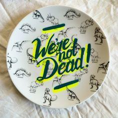 graphic design, illustr plate, plate dinosaur