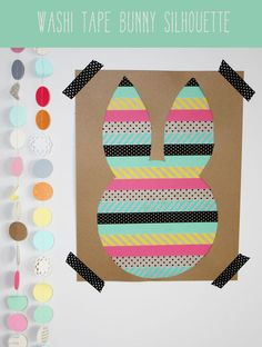 Washi Tape Bunny Silhouette wrap gifts, easter card, gift wrapping, wrapping gifts, washi tape, easter bunny, kid crafts, diy projects, halloween diy