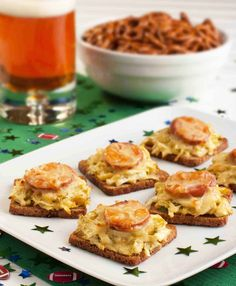 Mini Reubens with Honey Mustard Slaw #appetizers