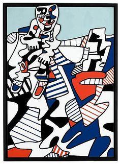 "JEAN DUBUFFET, (FRENCH 1901-1985), ""LE FUGITIF"""