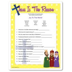 Christmas trivia about the birth of Jesus. Bibles optional, answer key included. Christmas game for kids 10+ and adults.