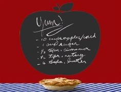 An apple a day is a great way to keep organized with reminders, recipes and To Do lists in your kitchen or as a fun decor element in a kids playroom.
