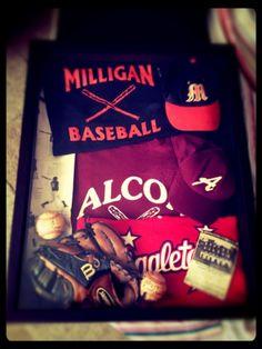 Baseball shadow box...my next project for Zachs Tball stuff.