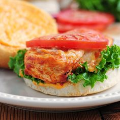 Buffalo chicken breast sandwich - make it healthier by using light mayo