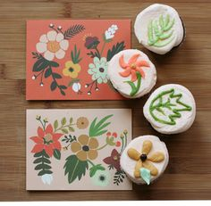 rifle paper co. inspired cupcakes via #ohhishop