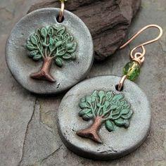 Tree Token Earrings