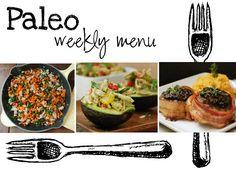 Paleo weekly menu