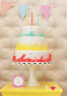 Rock Candy Cake via The TomKat Studio