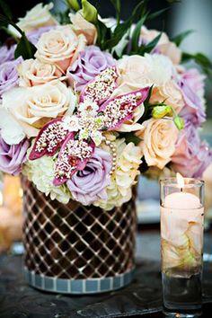 Floral wedding centerpeice