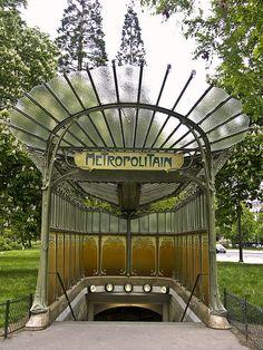 Metro entrance, 16e arrondissement, Paris.