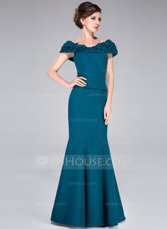 Mother of the Bride Dresses - $136.99 - Trumpet/Mermaid Off-the-Shoulder Floor-Length Chiffon Mother of the Bride Dress With Ruffle (008040848) http://jjshouse.com/Trumpet-Mermaid-Off-The-Shoulder-Floor-Length-Chiffon-Mother-Of-The-Bride-Dress-With-Ruffle-008040848-g40848