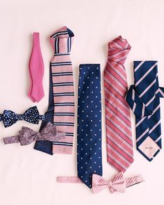 Pink & Navy palette; with a vintagey feel