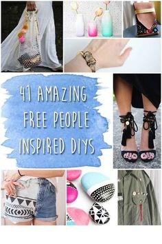 Sooooo many great DIY ideas for Free People junkies. Boho your home, apparel, and accessories on the cheap- the way boho was intended!