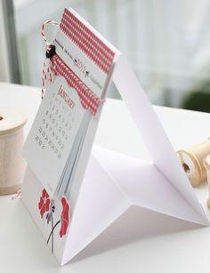 Handmade Calendar    Great office gift idea.