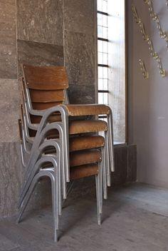James Leonard aluminium and ply chair