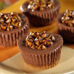 Mini Chocolate Caramel Cheesecakes