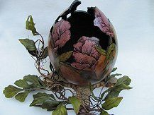 carv gourd, flower design, gourd craft, gourdsgourd art