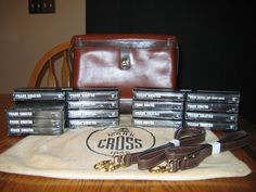 Chrysler Imperial 16 cassette tape set received at delivery, with Mark Cross accessories.