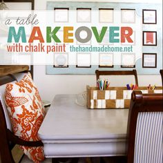 a table makeover with chalk paint