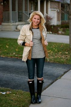 how to look cute in rain boots!