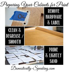 Preparing Your Cabinets for Paint