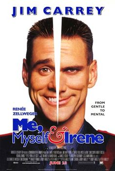 "Me, Myself and Irene (2000) is the latest in a series of films depicting the psychiatric syndrome of Dissociative Identity Disorder (DID). Wrongly billed as a ""schizophrenia comedy"", it stars Jim Carrey as a state trooper ""whose (two) split personalities fall for the same woman after he forgets to take his mood stabilisers"".1 The film is not about #schizophrenia, but it confuses this illness with DID. [doi:10.1136/mh.27.1.26]"