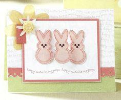 card idea, stamp set, paper craft, easter card, peep stamp