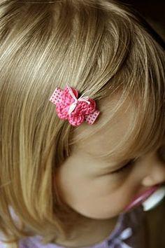 Such a cute idea! #Crochet a little butterfly hair clip for a little girl.