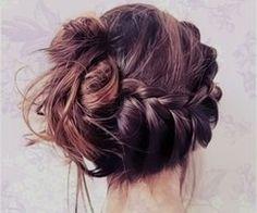 Messy braid bun :)