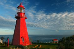 La Martre lighthouse near Matane, on the Gaspe peninsula, Canada