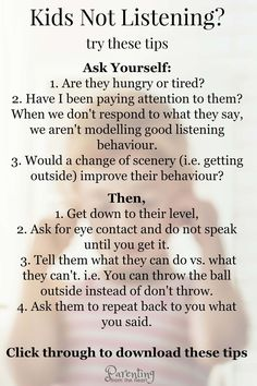 Kids not listening? Your kids will listen if you use these two strategies. Great positive parenting strategies for parents with young kids, toddlers, and preschoolers. #kidslistening #parenting #parentingfromtheheart #parentinghacks #parentingtips #parentingstoddlers #strongwilledchild #positiveparenting #positivediscipline #kids via @parentfromheart