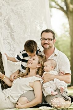Cute family of four pose... :-)