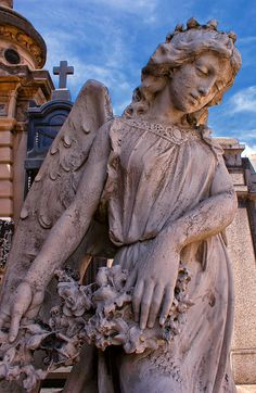 A statue in the La Recoleta cemetery in Buenos Aires.