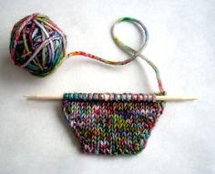 diy speckled yarn