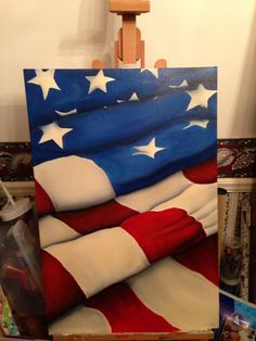 Flag painting.