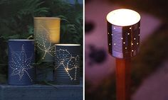 DIY lanterns from cans