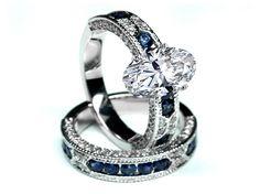 Anillo de compromiso y argolla matrimonial de MDC Diamonds New York.