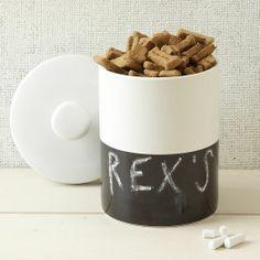 Dipper Pet Jar - Chalkboard | west elm