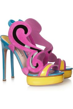 Color-block suede and patent-leather sandals by Nicholas Kirkwood #NaturalBeauty #NaturalzBiz #NeoNaturalz #LadyBizness