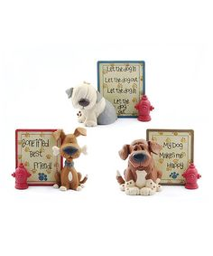 Look what I found on #zulily! Dog & Hydrant Sign Set #zulilyfinds