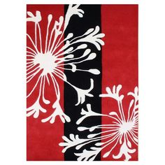 I pinned this Sabrina Red Floral 5' x 8' Rug from the Black & White & Red All Over event at Joss and Main!