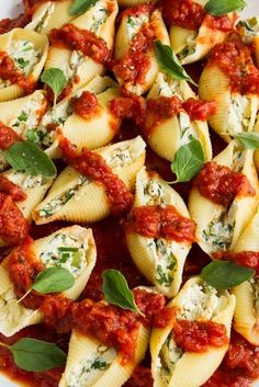 Vegan stuffed pasta shells - I've made these before and even my meat-eater loved them.
