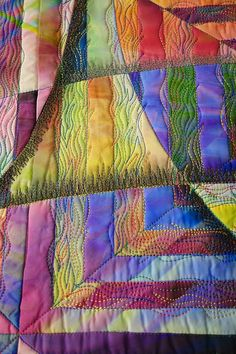 close up, Squared Illusion 6 by Gloria Hansen. 2014 Denver National Quilt Show, photo by Karen at Sew Fun 2 Quilt