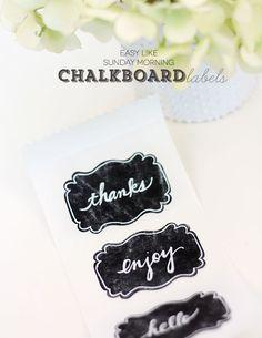 Simpliest Way to Make Chalkboard Labels