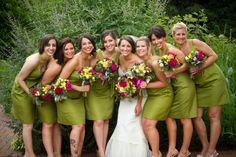 JCrew-Cypress-Bridesmaid-Gowns  {Not a green girl, but actually like the colors shown.}