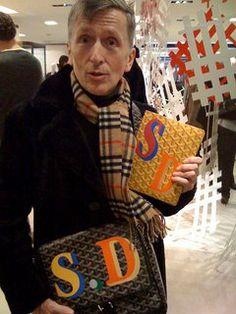 simon doonan and his monogrammed goyard agenda @Steph38