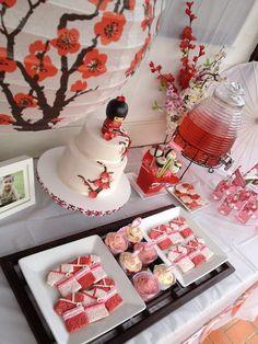 Kokeshi Japanese Doll inspired birthday party