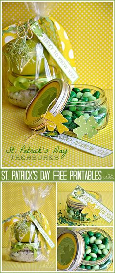party favors, kid gifts, gift ideas, candies, st patricks day, apples, holiday idea, stpatrick, candy jars